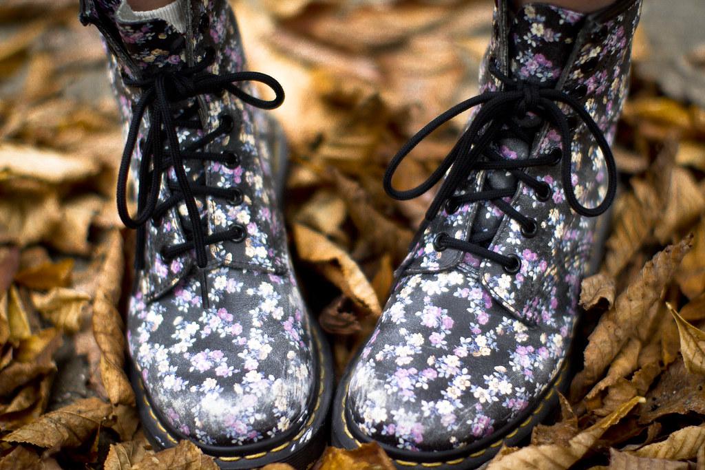 floral Doc Martens boots