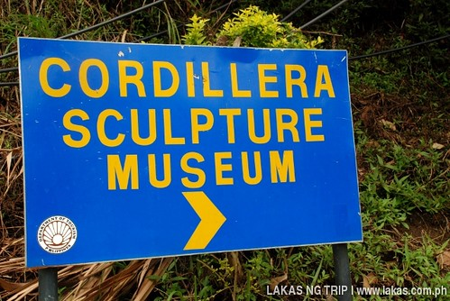 Cordillera Sculpture Museum sign in Banaue, Ifugao
