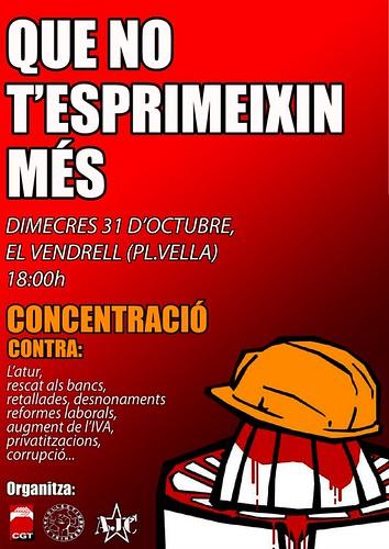 EL VENDRELL 31 octubre 2012 concentració