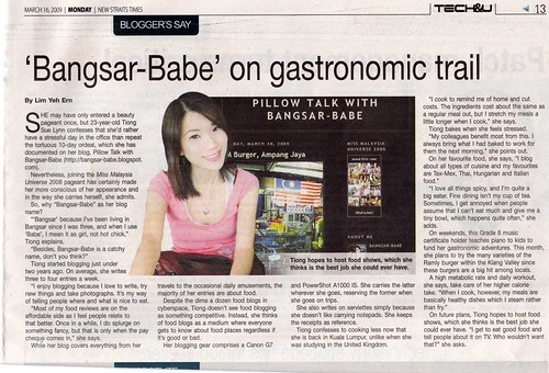 Bangsar-babe nst write-up