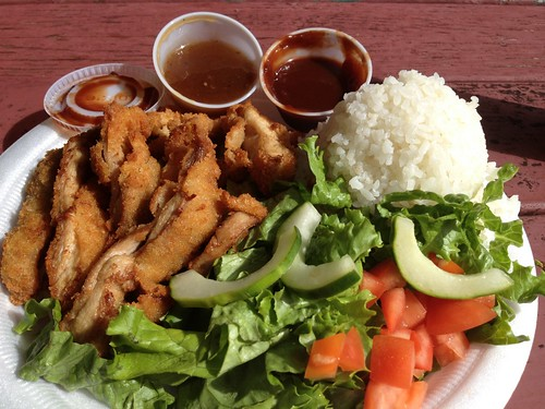 Mana'e Goods and Grindz - Chicken Katsu plate