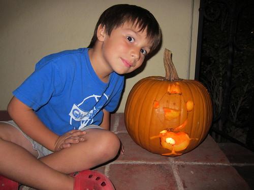 Finn and his pumpkin
