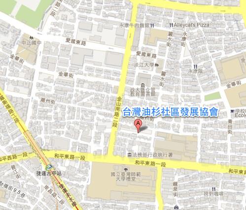 地圖:台灣油杉社區發展協會
