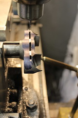 milling the Cinelli pista fork crown