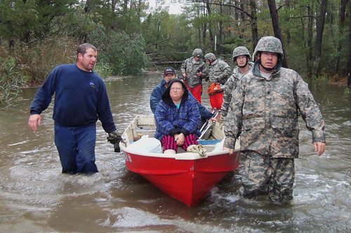 Virginia Guard Soldiers rescue stranded citizens in the Eastern Shore area