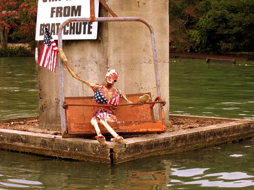 Halloween at Lake WinnepeSPOOKah: Patriotic Skeleton