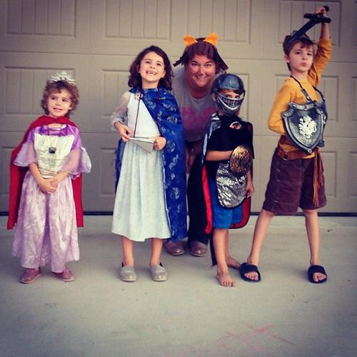 #happyhalloween from Lucy, Susan, Edmond, Peter, and Aslan. #ChroniclesOfNarnia