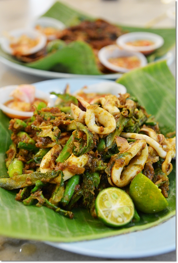 Sambal Squid with Four Angled Beans