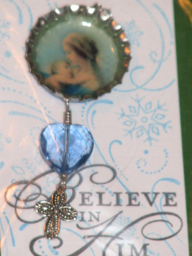 Ink Stains Altered Christmas Charm Swap 014