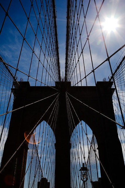 Brooklyn Bridge contre-jour
