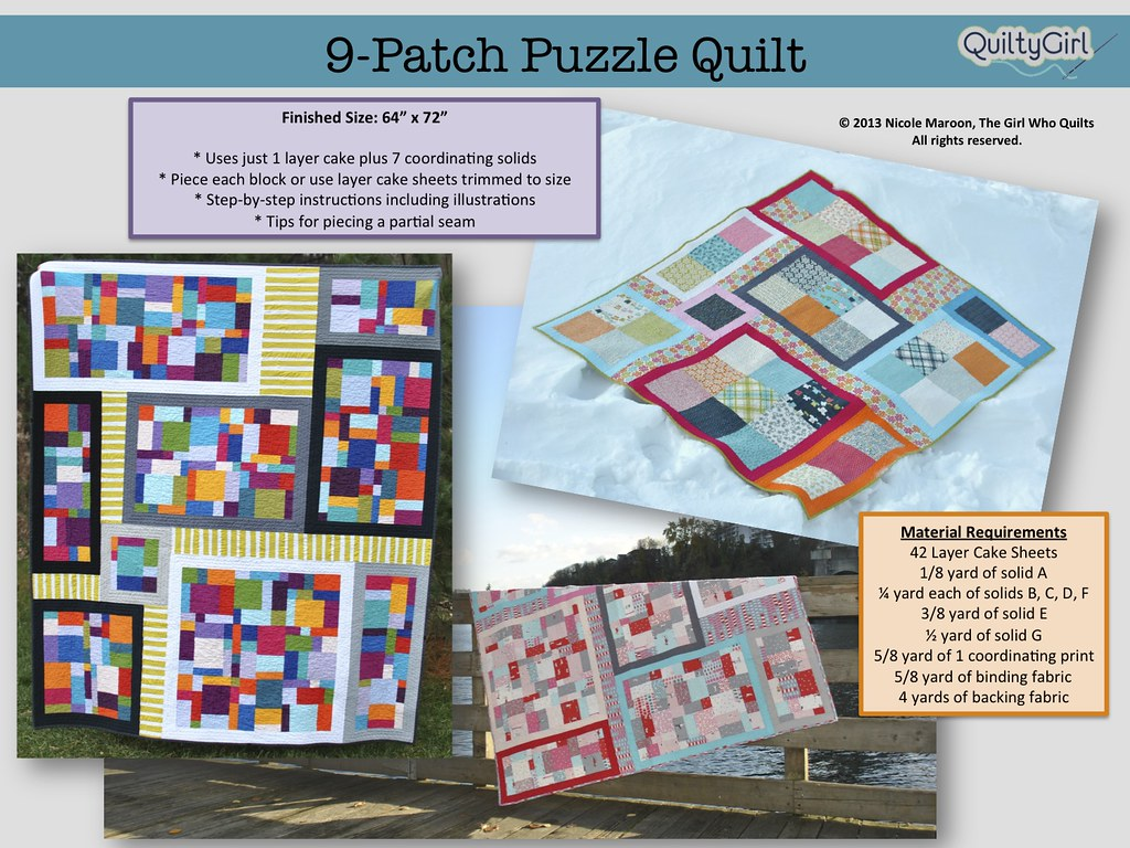 9-patch puzzle pattern! | blogged: thegirlwhoquilts blogspot… | Flickr