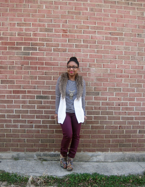 maroon stripes and fur 1