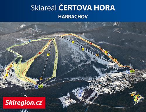 Harrachov - mapa sjezdovek