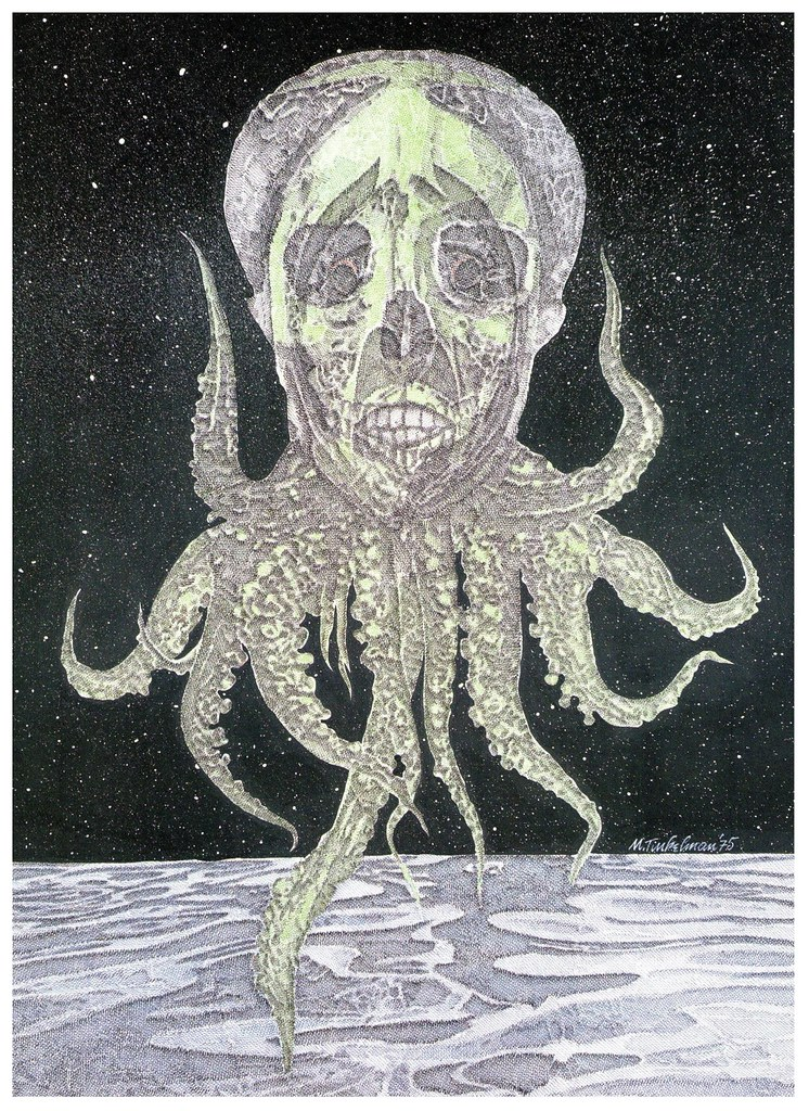 "Murray Tinkelman - Cover Illustration for ""The Mask Of Cthulhu"""