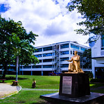 Statue of St. Ignatius of Loyola.  Ateneo de Davao University - High School Unit - Matina Campus