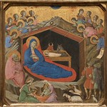 [ B ] Duccio di Buoninsegna -  The Nativity with the Prophets Isaiah and Ezekiel (1308-11)