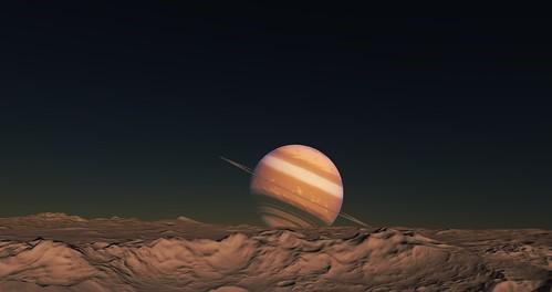 Планета, вид со спутника