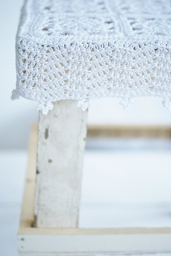 snowy white stool by wood & wool stool