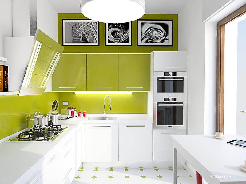 Top Pensili Non Finiti Plan : Progetto per una cucina verde cucine