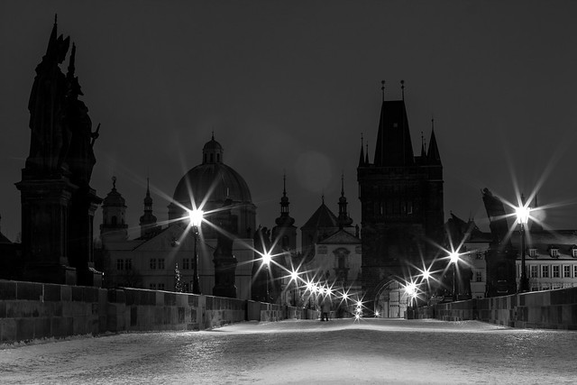 Charles Bridge at Night - Prague