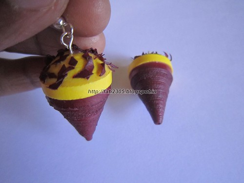 Handmade Jewelry - Paper Cone Ice Cream Earrings (3) by fah2305