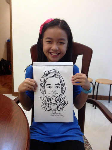 caricature live sketching for birthday party 14072012 - 4