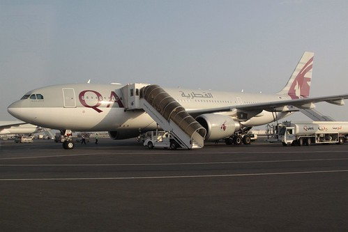 Qatar Airways A330-200 rego A7-ACF at Doha