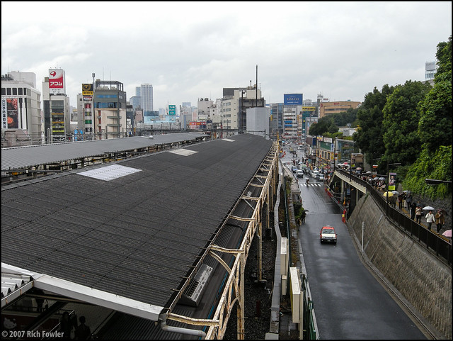 Backside of Ueno Station