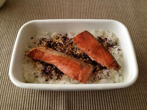 焼鮭のっけ弁当