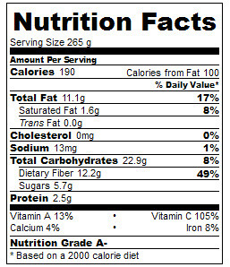 jpa salad nutrition