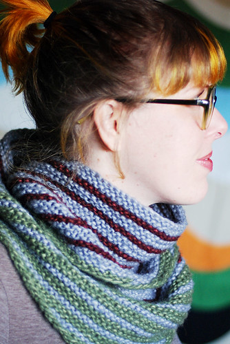 long loop stripy cowl