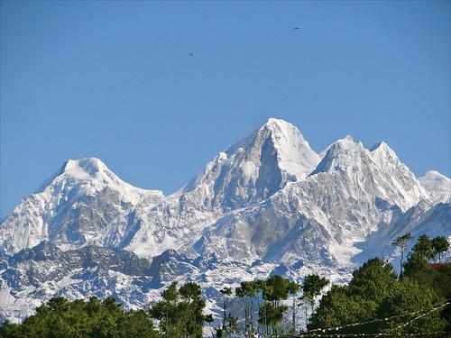 montagne day clear himalaya népal nagarkot albera dorjelakpa valléedekatmandou