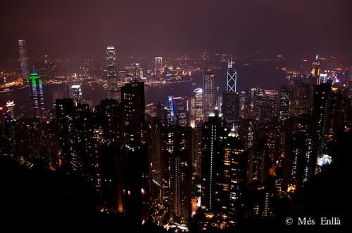 Vistas de Hong Kong desde Victoria Peak