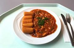 Pork chop in zingara sauce with croquettes / Schwe…