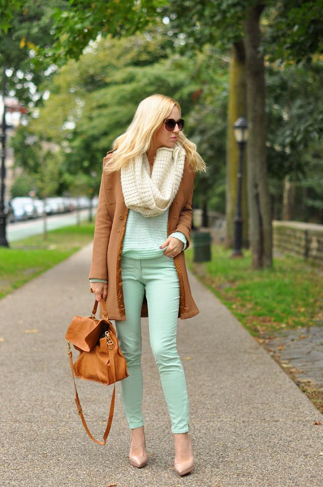 Mint Green & Camel