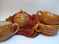 The ceramic yarn collection: Caramel Brown