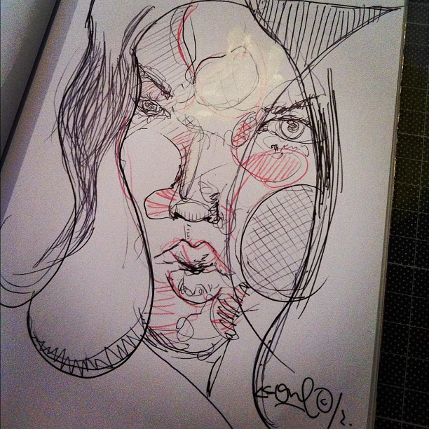sketch with ball pen, 12oct2012