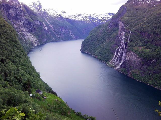 Geirangerfjord and Skagefla farm