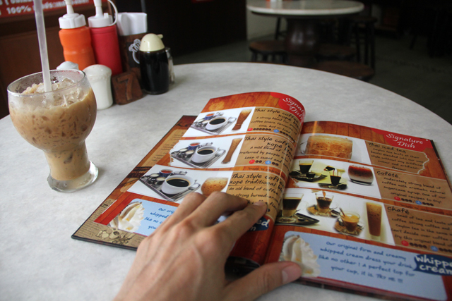 Flipping through the menu, there are some really attractive coffees