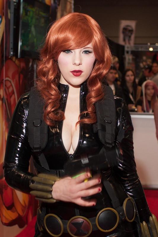 Black Widow Marvel Body Paint