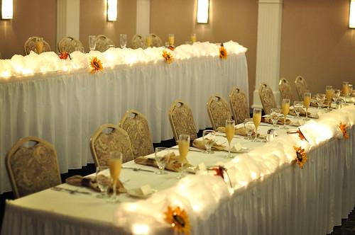 Kim & Brent Wedding Head Table