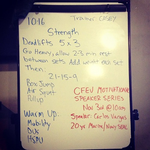 Strength and metcon. Love it. #wod #crossfit