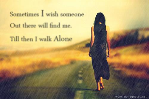 alone girl walking in rain facebook covers