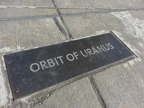 Orbit of Uranus. Shutup, Beavis.