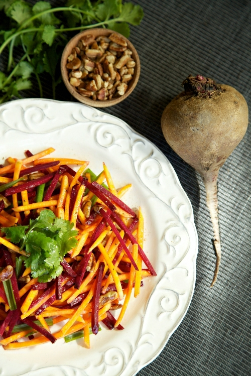 Raw Beets and Butternut Slaw