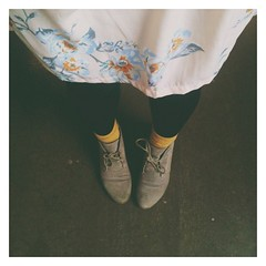 a socks-and-desert-boots-with-your-dress kinda day. #vscocam #floral