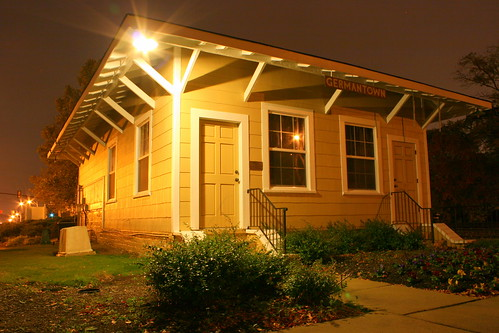 Germantown, TN Train Depot at Night