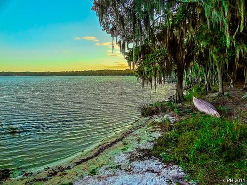 sunset usa lake geotagged florida shoreline fl gps 4h photostream 2011 cherrylake houckster sonydschx9v campcherrylake