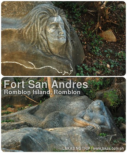 Carvings inside the vicinity of Fort San Andres in Romblon Island, Romblon