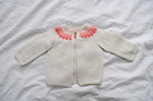 fair isle baby cardigan
